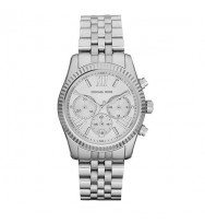 Michael Kors Lexington Silver Tone Chronograph Watch MK5555