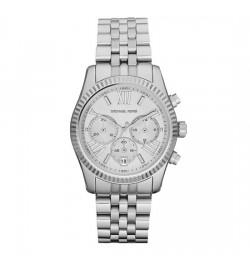 Michael Kors Lexington Silver Tone Chronograph Watch MK5555