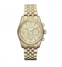 Michael Kors Lexington Silver Tone Chronograph Watch MK5556